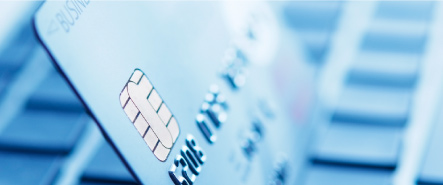 Image of a Credit Card with an EMV chip
